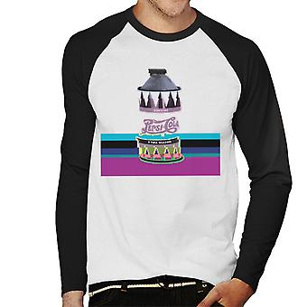 Pepsi 1940s kunt Glitch mannen honkbal lange mouwen T-Shirt