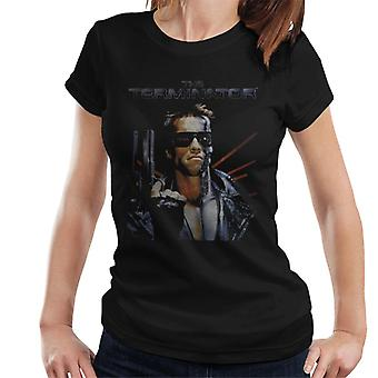 Terminator Distressed Movie Poster Shot Women's T-Shirt