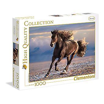 لغز -- اللعب الإبداعية Clementoni -- الحصان مجانا 1000pcs جديدة 39420