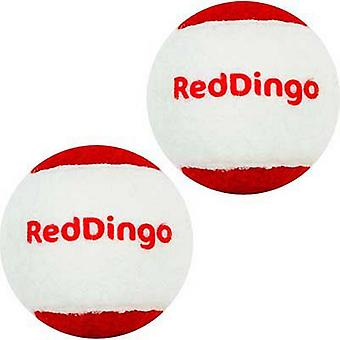 Red Dingo Dog Tennis Ball (Pack Of 2)