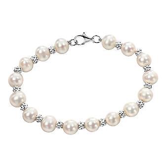 Joshua James Allure Silver & Pearl Bracelet