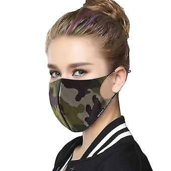 Pack 2 camouflage print face mask for washable reusable protective cover