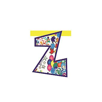 Linking Banner 20cm Letter - Z Party Decoration
