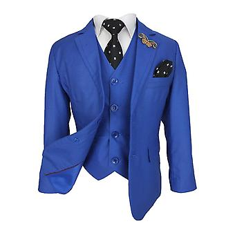 Joe Cooper Boys Light Blue Tailored Fit Complete Suit Set