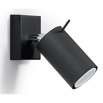 Sollux RING - 1 Light Wall Spotlight Black, GU10