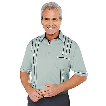 Chums Short Sleeve 2 Piece Collar Embroid Top