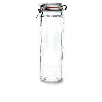 Argon Geschirr Glas Spaghetti Jar mit luftdichten Clip Lid - 2 Liter - Orange Seal