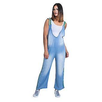 Ladies all-in-one jumpsuit - one size uk 8-12 - soft blue