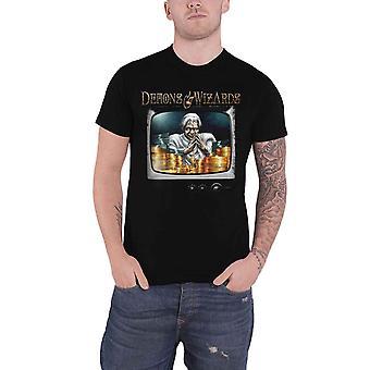 Demons & Wizards T Shirt Midas Disease Band Logo new Official Mens Black
