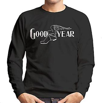 Bom ano logotipo preto e branco Men's Moletom