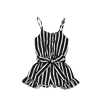 Sleeveless Kid Striped Jumpsuit, Summer Overalls Playsuit Costumes