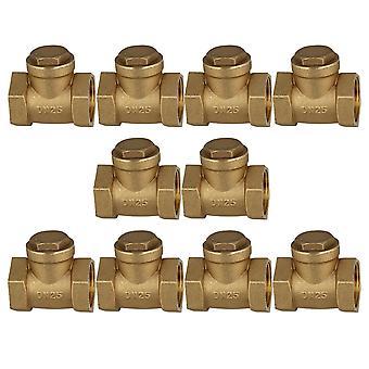 10x 1 Inch Brass Thread Female BSPP Swing Check Valve DN25 with ID 32mm