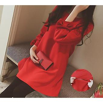 Pregnant Women Autumn Long Sleeve Fashion Nursing Clothes- Loose Comfortable Postpartum Lactation Shirts Breastfeeding Blouses
