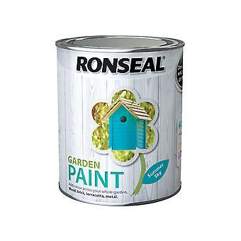 Ronseal Garden Paint Summer Sky 750ml RSLGPSS750