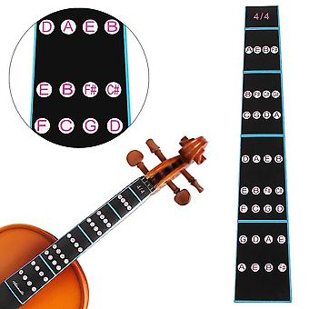 4/4 Violin Fingerboard Sticker- Fretboard Note Label Fingering Chart Practice,