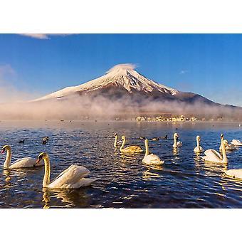 Tapeter väggmålning Mount Fuji