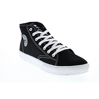 Circa Gravel x Skeleton Key Mens Black Suede Limited Collaboration Sneakers Shoes