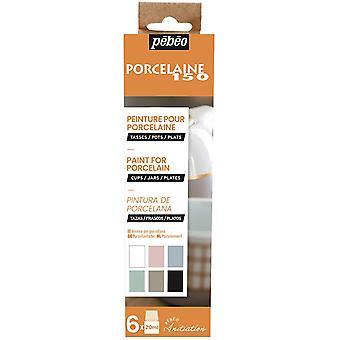 Pebeo Porcelaine 150 Chalk Colours Initiation Set 6 x 20ml
