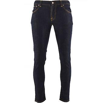 Nudie Jeans Blue Tight Terry Rinse Twill Jean