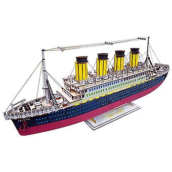 Develop kids intelligence Wooden 3D Puzzle 77 pieces - Titanic