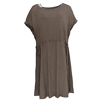 N'importe qui robe confortable tricot cinched taille brune A353779