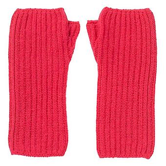 Johnstons of Elgin Ribbed Wrist Warmers - Lotus Pink
