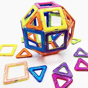 Magnetic Constructor Triangle Square Bricks Building Blocks Designer Set