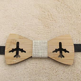 Classic Bamboo Wood Bow Ties Laser Cut Wooden Kids Butterfly Knots Cravat