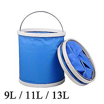 Portable Folding Bucket Collapsible Multifunctional Folding Outdoor Bucket Basin for Camping Hiking Travelling Fishing Washing
