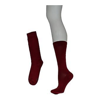 Kane 11 Femmes's Monroe Wool Blend Socks Burgundy Red
