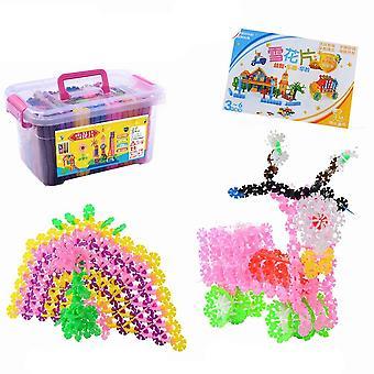 3d Puzzle - Plastic Snowflake Design-building Block, Educational Intelligence