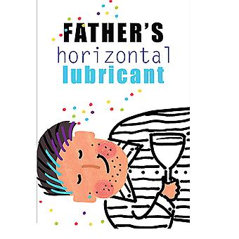 Fathers Horizontal Lubricant Wine Bottle Label