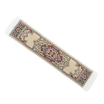 Dolls House Beige Turkish Woven Carpet Runner Miniature Rug 1:12 Scale