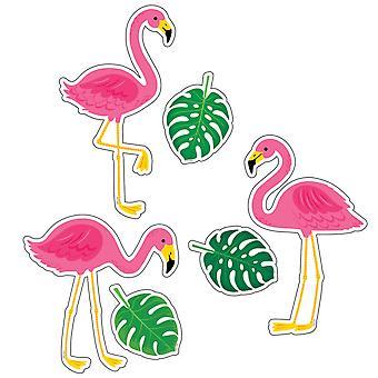 """Palm Paradise Flamingo Spaß 6"""" Designer Ausschnitte, Packung mit 72"""