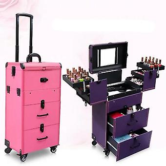Makeup Rolling Luggage Trolley Suitcase