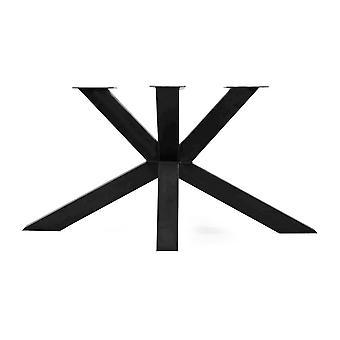 Schwarzer Stahlmatrix Tisch Beinhöhe 73 cm und Breite 150 cm (Ärmel 10 x 10) (1 Stück)
