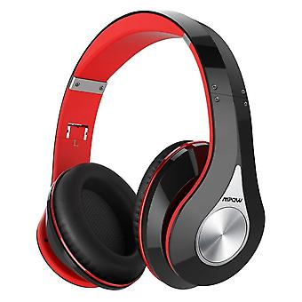 Bluetooth headphones over ear, mpow 059 hi-fi deep bass wireless&wired headsets, soft memory prote