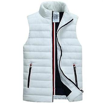 Men's Sleeveless Vest, Winter Casual Coats, Male Cotton-padded Thickening