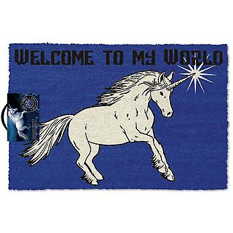 Anne Stokes Welcome To My World Door Mat