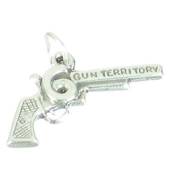 Gun Sterling Silver Charm .925 X 1 Guns Armes Charmes - 2693