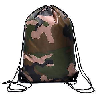 Camouflage Backpack - Drawstring Gym Bag, Travel Sport Outdoor Lightweight