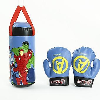 Disney Kids Outdoor Sports Boxing Marvel Spiderman Superhero Gloves Sandbag Set