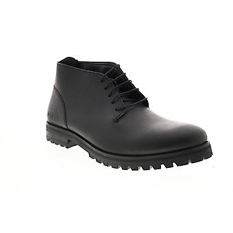 Andrew Marc Alden  Mens Black Synthetic Chukkas Boots