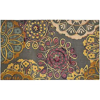 Spura Home 45X27 HandMade Floral Carlton Multi Embroidered Transitional Area Rug