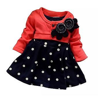 طفلة فتاة القطن بولكا دوت اللباس
