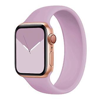 Stuff Certified® Silicone Strap for iWatch 38mm / 40mm (Medium) - Bracelet Strap Wristband Watchband Purple