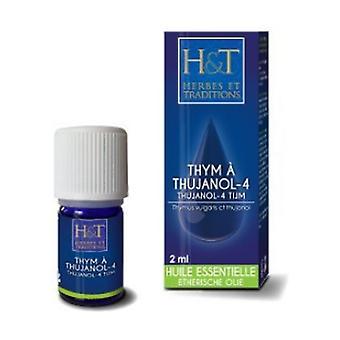 Thyme thujanol-4 essential oil (Thymus vulgaris ct thujanol) 2 ml of essential oil