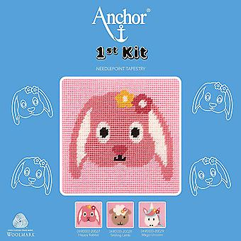Anchor Cross Stitch Kit: 1st Kit: Best Friends: Happy Rabbit