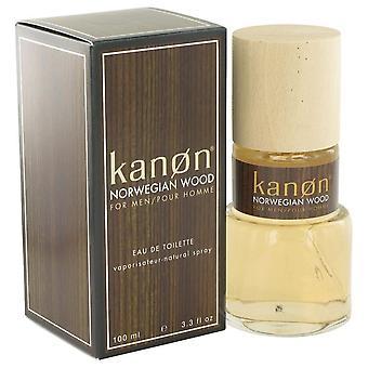 Kanon Norwegian Wood Eau De Toilette Spray By Kanon 3.3 oz Eau De Toilette Spray