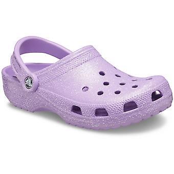 Crocs Womens Sugar Glitter Beach Shoes Clogs